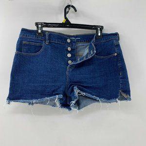 Old Navy cutoff button fly jean shorts sz 12